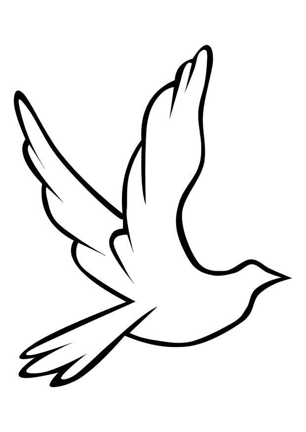 Coloring page dove - img 10156.