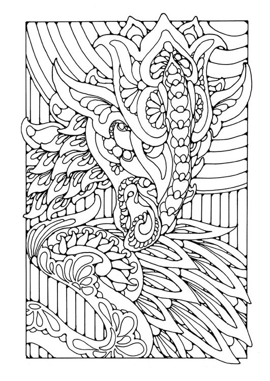 Coloring page dragon
