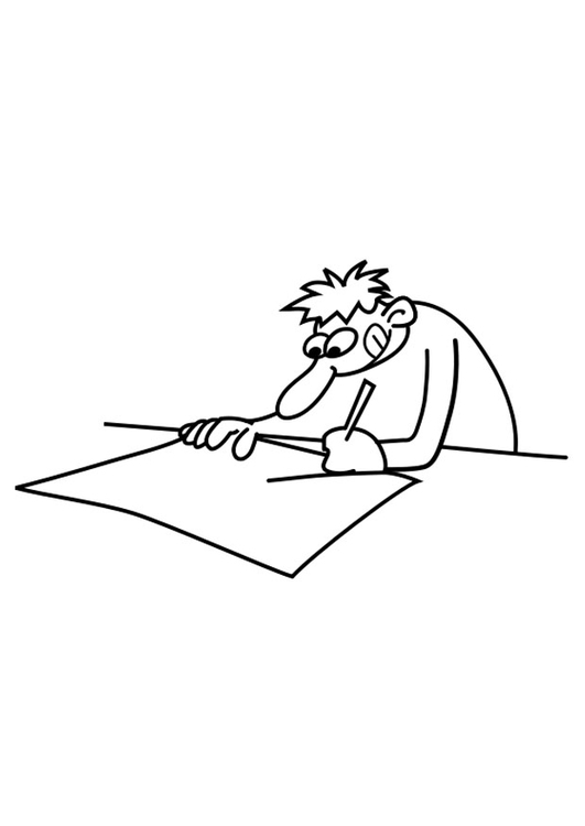 Coloring page draughtsman