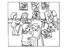 Coloring page drawing lesson