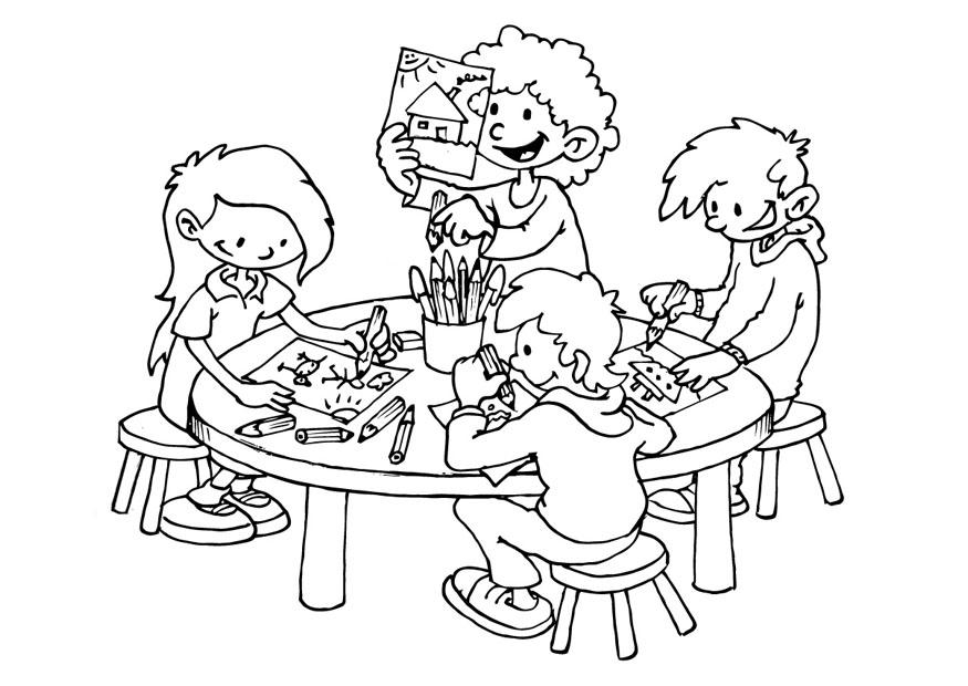 Coloring page drawing space - img 19301.
