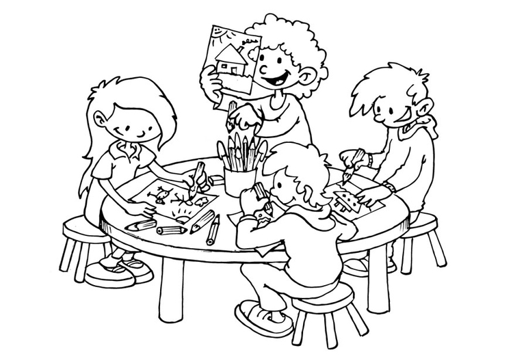 Coloring page drawing space