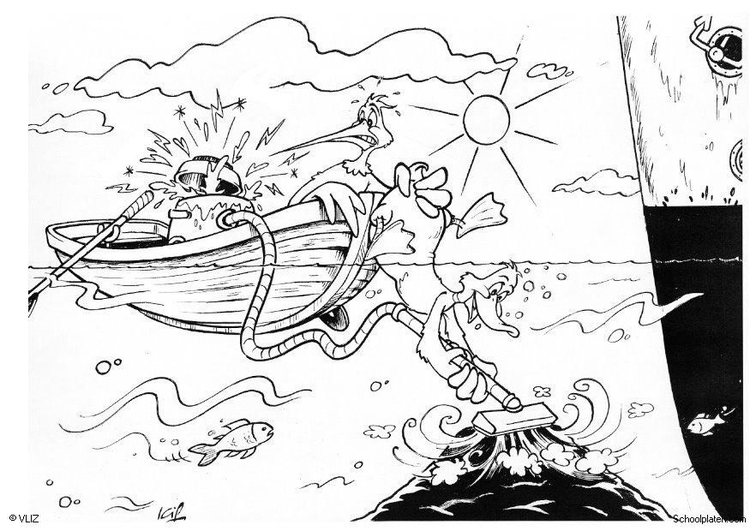 Coloring page dredging