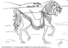 Coloring page dressage