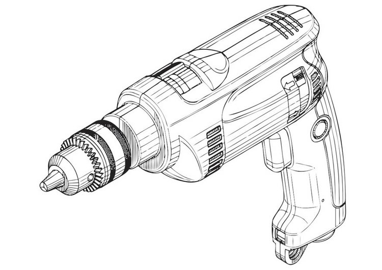 Coloring page Drill