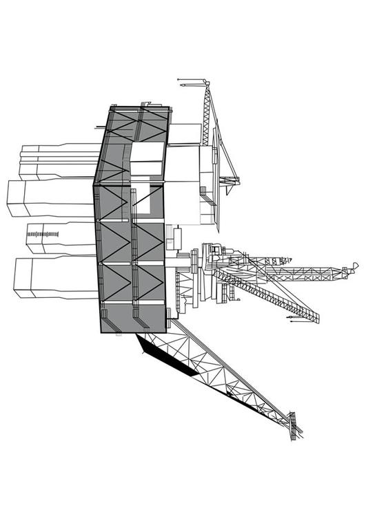 Coloring page Drilling Rig - img 17068  Images