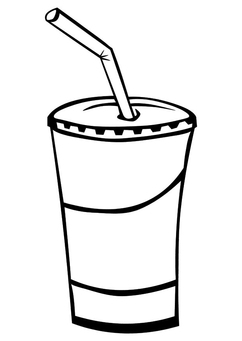 Coloring page drink