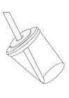 Coloring page drinking cup with straw