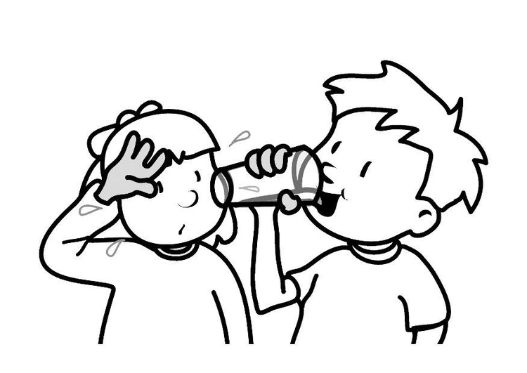 Coloring page drinking