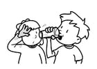 Coloring pages drinking