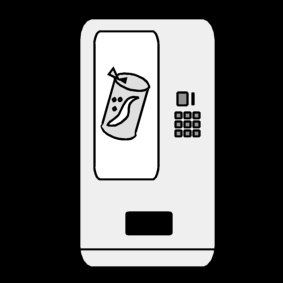 Coloring page drinks machine