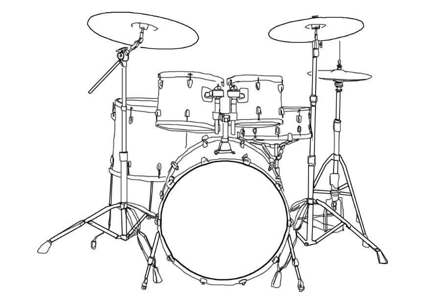 Coloring Page Drum Kit Img 7002