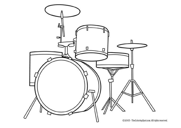 Coloring Page Drum Kit Img 5947