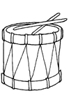Coloring pages drum