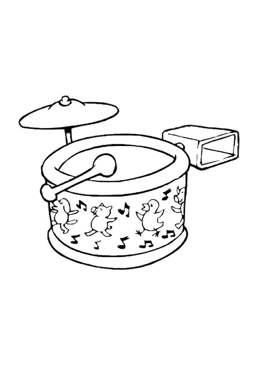 Coloring page drum set
