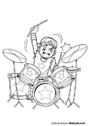 Coloring pages drummer