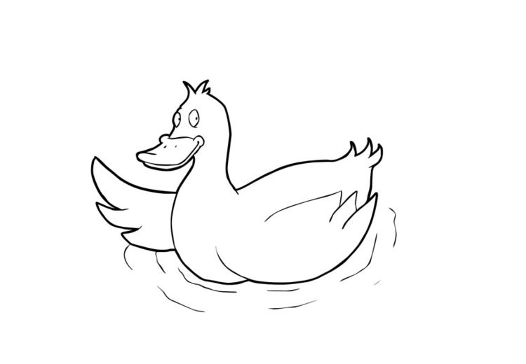 Coloring page duck