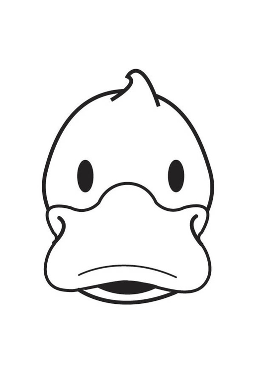 Coloring page Duck Head