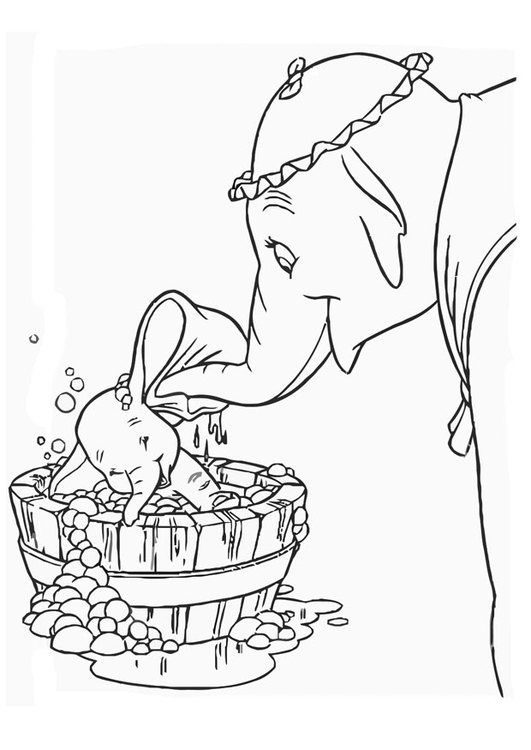 Coloring page Dumbo