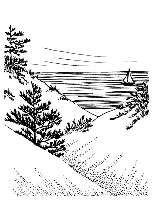 Coloring page dunes
