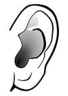 Coloring pages ear - silence