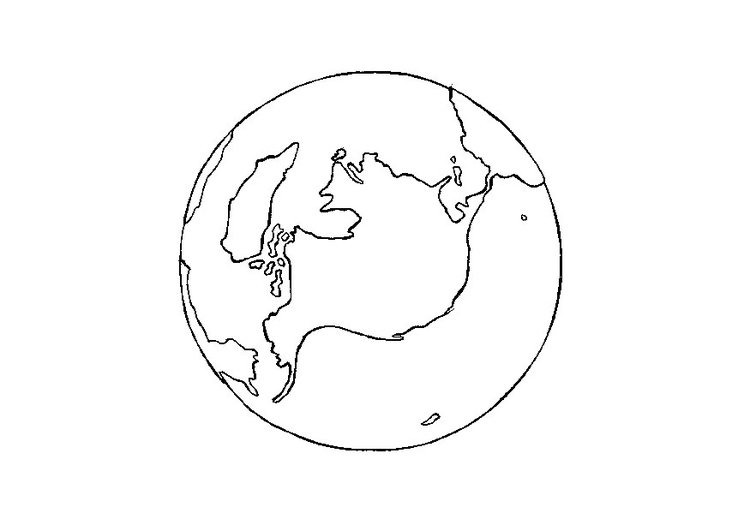 Coloring page earth