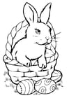 Coloring page Easter basket