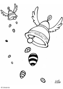 Coloring page Easter bells