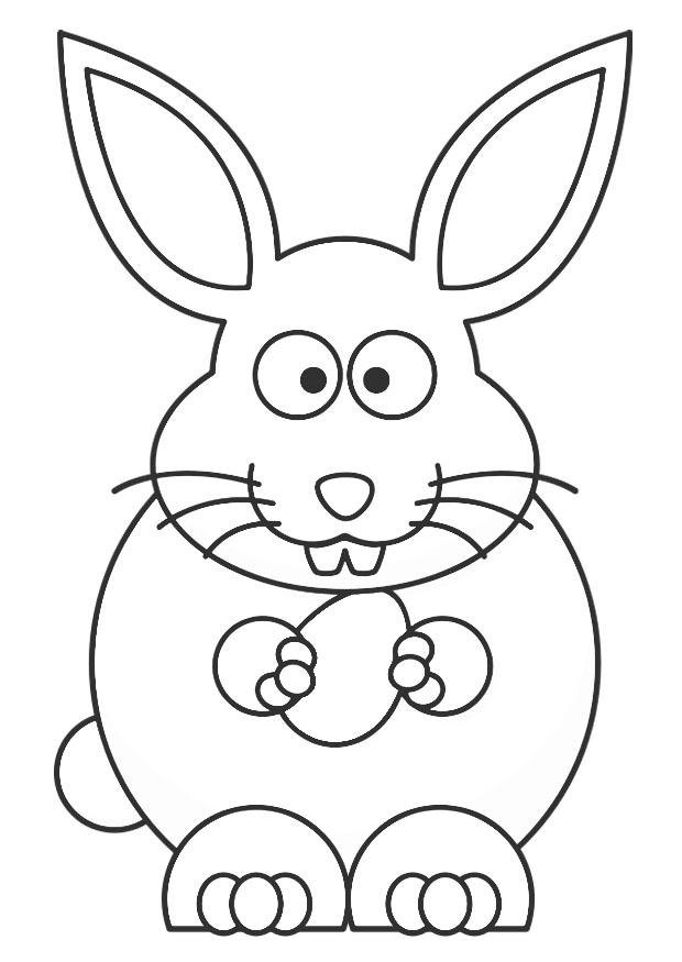 Paasmandje Kleurplaat Coloring Page Easter Bunny Free Printable Coloring Pages