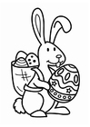 Coloring page Easter bunny