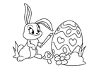 Coloring pages Easter bunny with easter egg