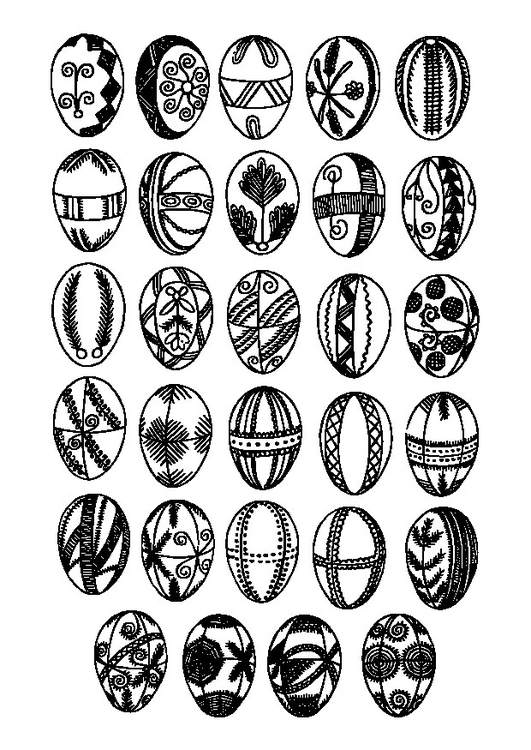 Coloring page Easter eggs