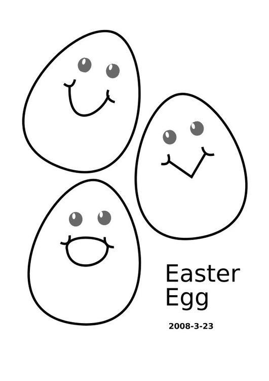 Gambar Coloring Page Easter Eggs Img 10321 Mewarnai Telur Paskah
