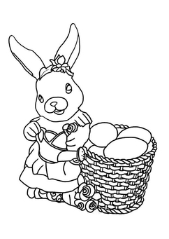 Coloring page Easter Rabbit