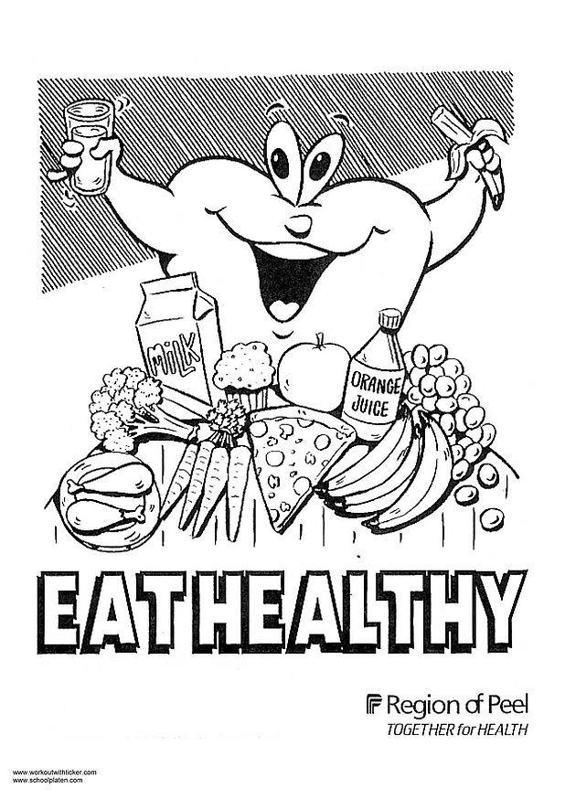 Coloring page eat healthy img 2975