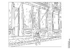 Coloring page Edward Hopper