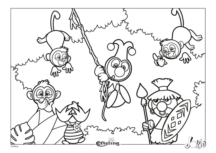 Coloring page Efteling - Africa