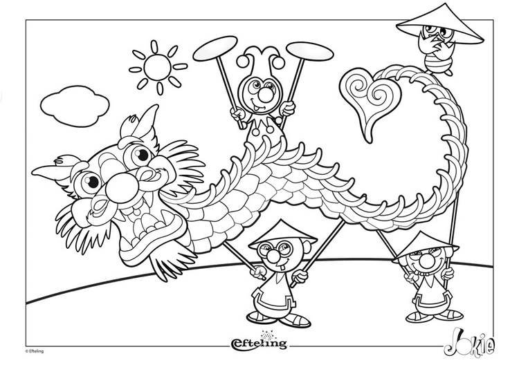 Coloring page Efteling - China