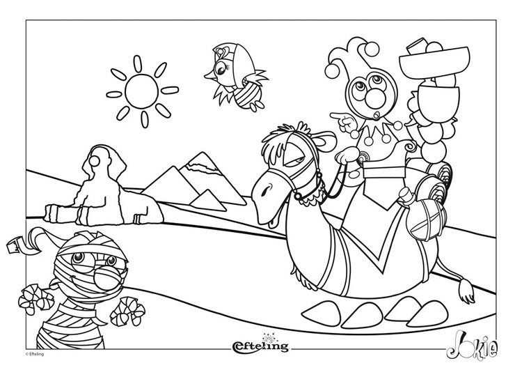Coloring page Efteling - Egypt