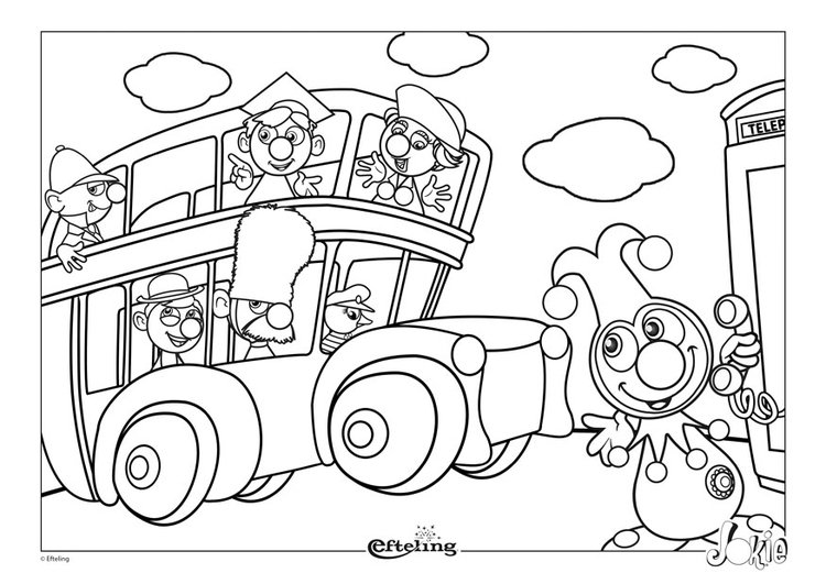 Coloring page Efteling - Great Britain