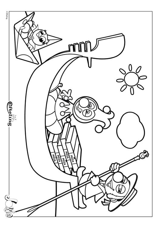 Coloring Page Efteling