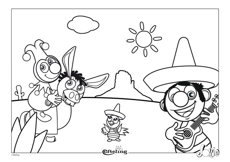 Coloring page Efteling - Mexico