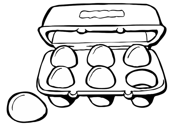 Coloring page egg container