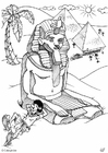 Coloring page egypt pyramid