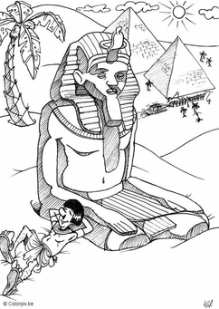 Coloring page Egypt