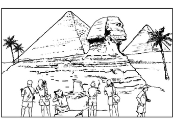 Coloring page Egypte