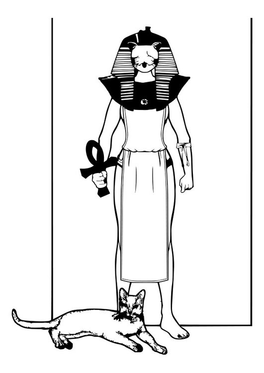 Coloring page Egyptian god