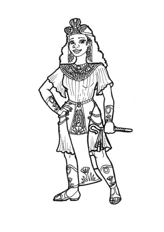 Coloring page Egyptian princess