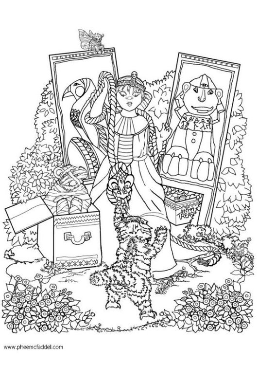 Coloring page egyptian toys