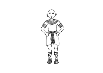 Coloring page egyptian